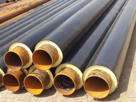 螺旋钢管   保温管-聚氨酯预制直埋保温管-嘉峪关盈安保温材料有限公司